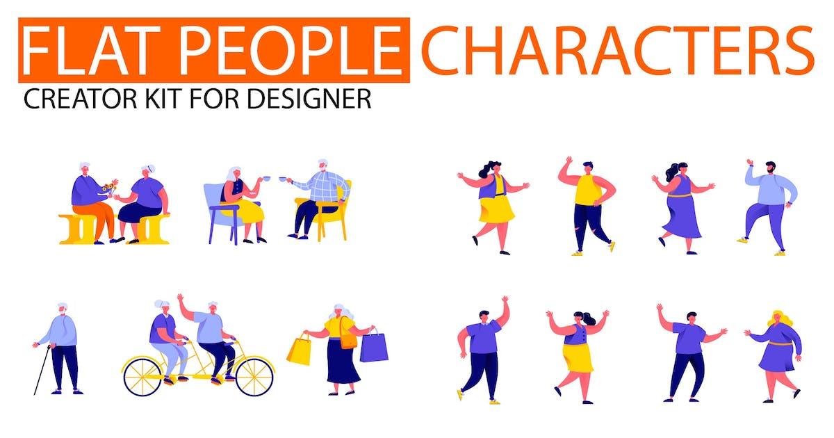 Download Modern Flat People Character Creator Kit by alexdndz