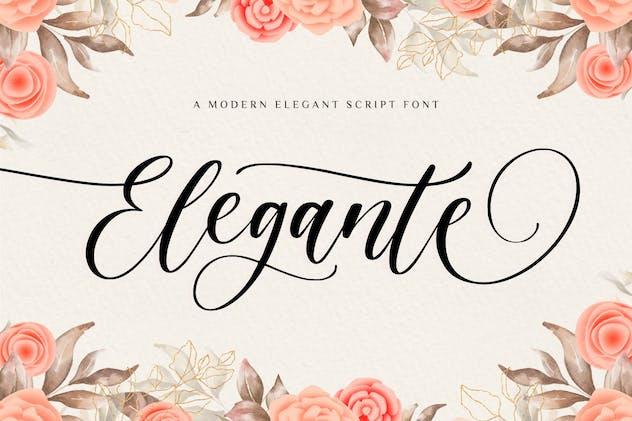 Elegante Script Font YH