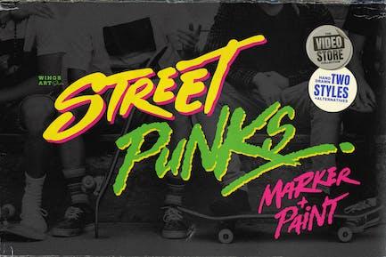 Street Punks - Graffiti Pen and Brush Font
