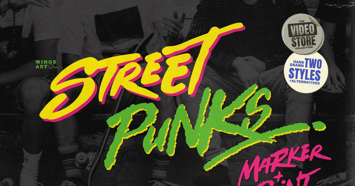Download Street Punks - Graffiti Pen and Brush Font by wingsart