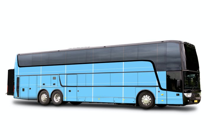 Cover Image For Travel bus Mockup