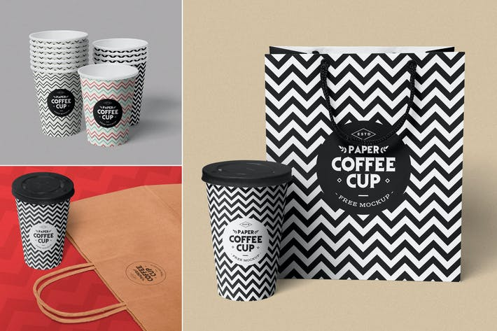 Thumbnail for Paper Cup Mockups