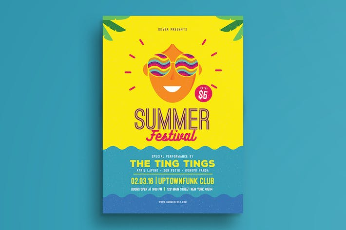 Thumbnail for Summer Festival Flyer
