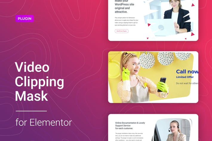 Thumbnail for Video Clipping Mask for Elementor