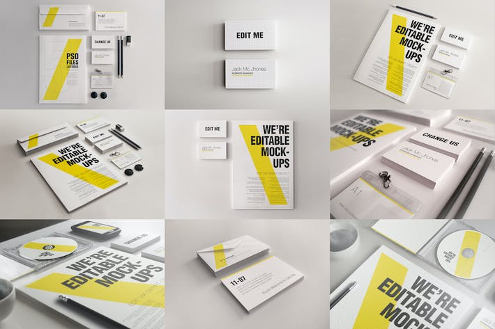 Thumbnail for Elegant Mock-ups Bundle - Business Corporate ID