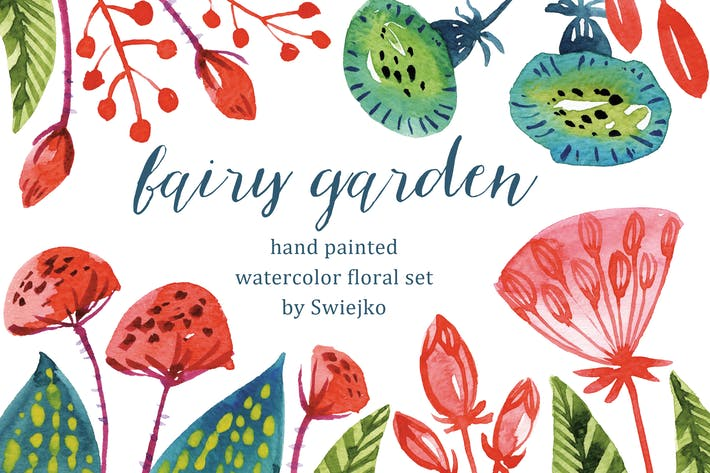Thumbnail for Watercolor Fairy Flowers