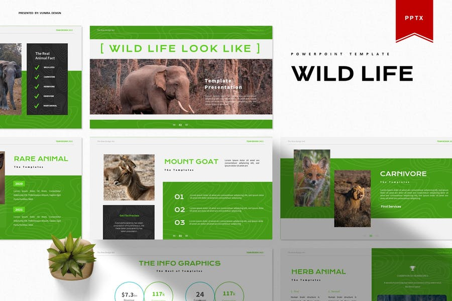 Wild Life Look Like   Powerpoint Template