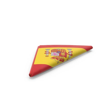 Flagge gefaltet Dreieck Spanien