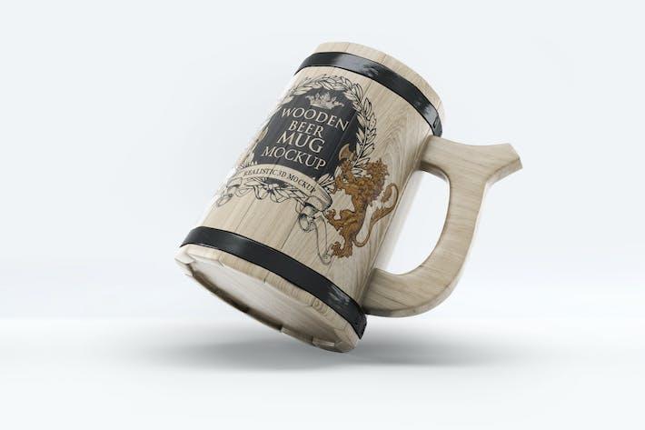 Thumbnail for Wooden Beer Mug Mock-Up