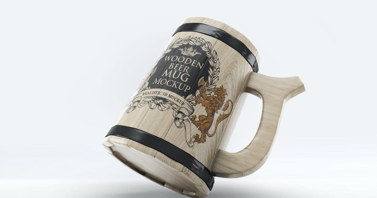 Download Wooden Beer Mug Mock-Up by L5Design
