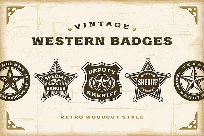 Thumbnail for Vintage Western Badges Set