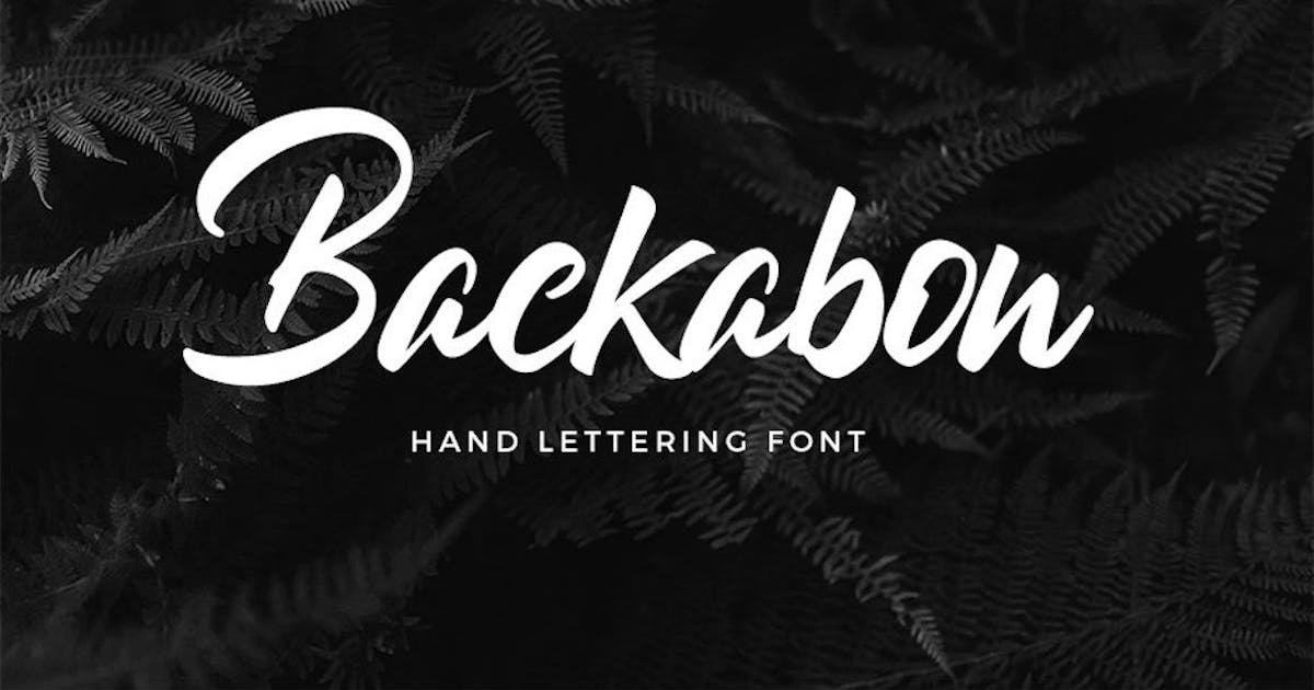 Download Backabon - Hand lettering Font by puricreative