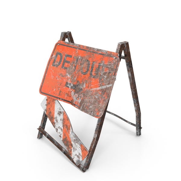 Thumbnail for Damaged Construction Work Sign
