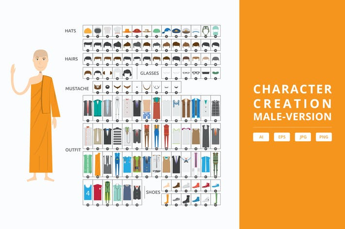Thumbnail for Male - Character Creation Kit