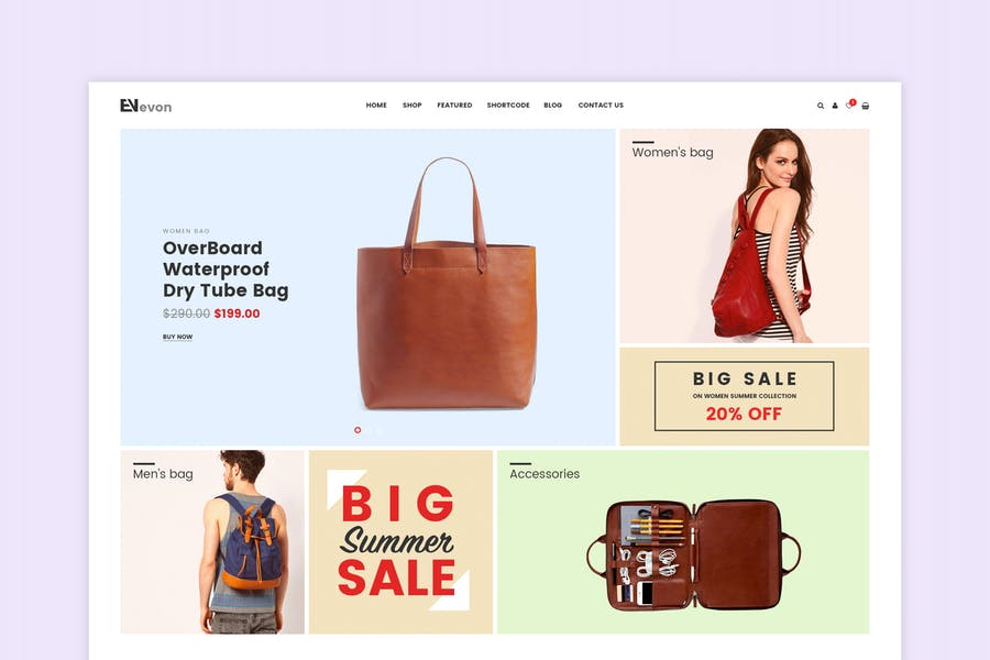 Evon - Bag Store WooCommerce WordPress Theme - product preview 0