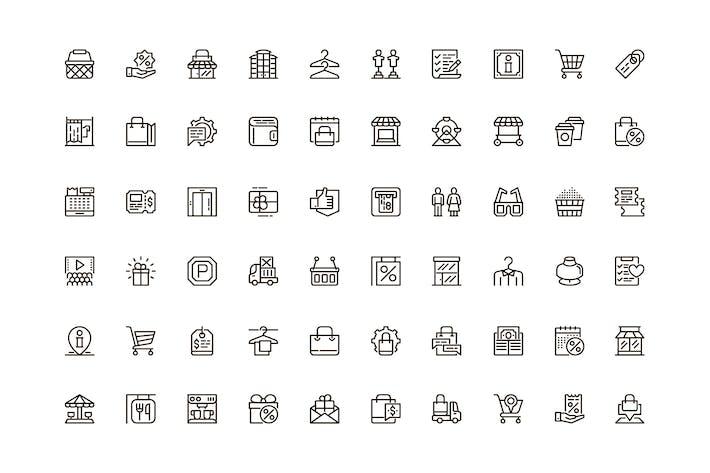 Einmaliges Webline-Icon-Paket für Shopping Mall