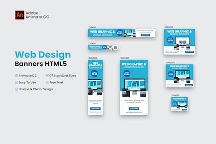 Web Design Banner HTML5 - Animate CC