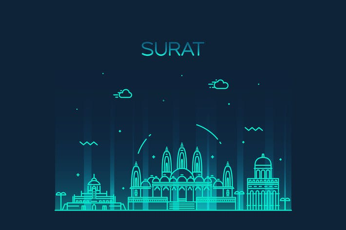 Thumbnail for Surat skyline, India