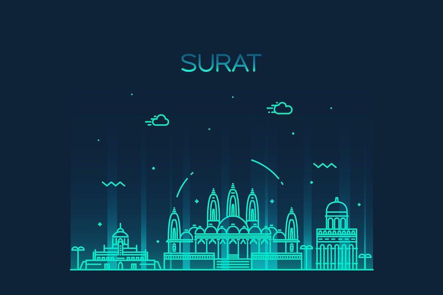 Surat skyline, India