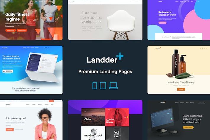 Landder+ – Lead Generation HTML Landing Pages