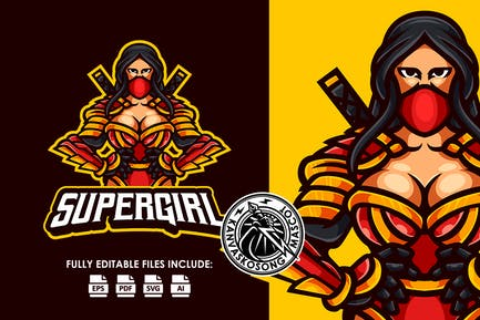 Sexy Ninja Esport Logo Template