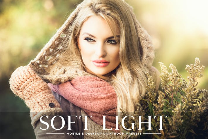 Thumbnail for Soft Light Mobile & Desktop Lightroom Presets