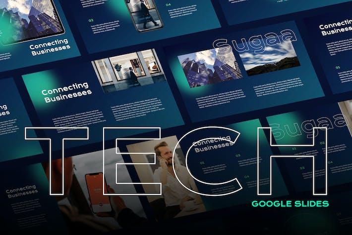Thumbnail for Sugaa - Tech Theme Google Slides Template