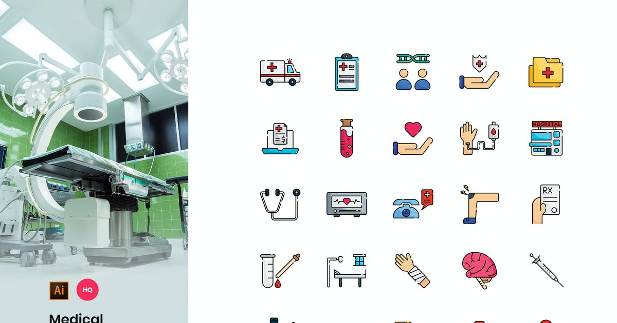 Download Medical Icons Pack by StringLabs