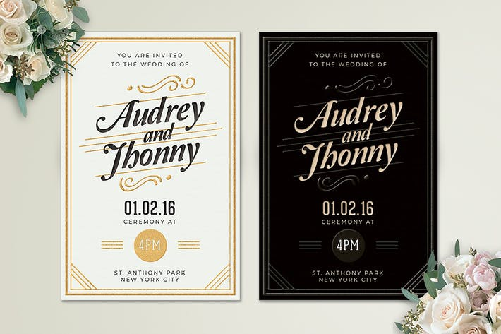Thumbnail for Simple Elegant Wedding Invitation