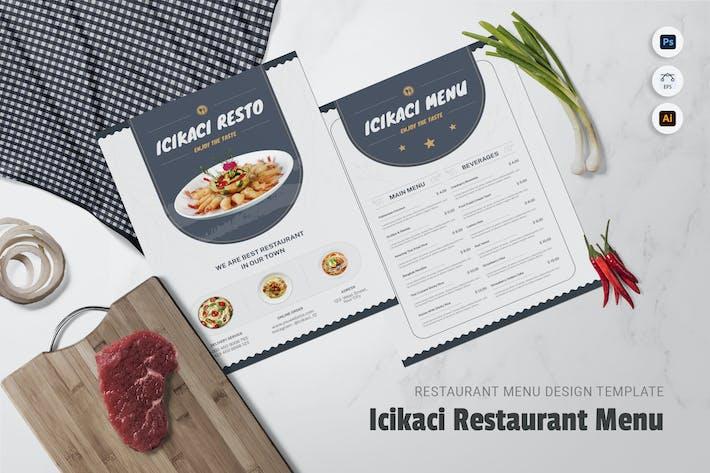 Icikaci Restaurant Menu