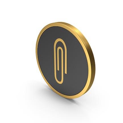 Gold Icon Paper Clip