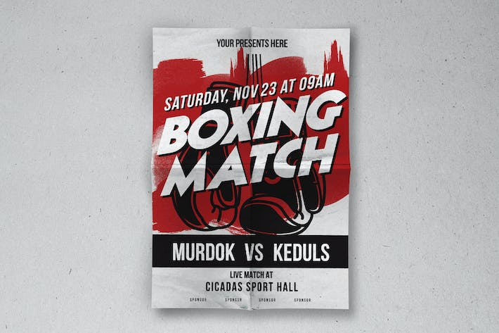 Cover Image For Boxing Match Flyer