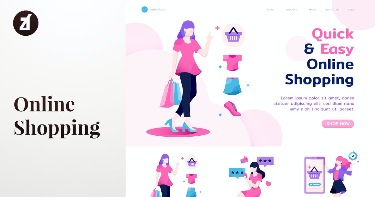 Download Online shopping for woman templates by Chanut_industries