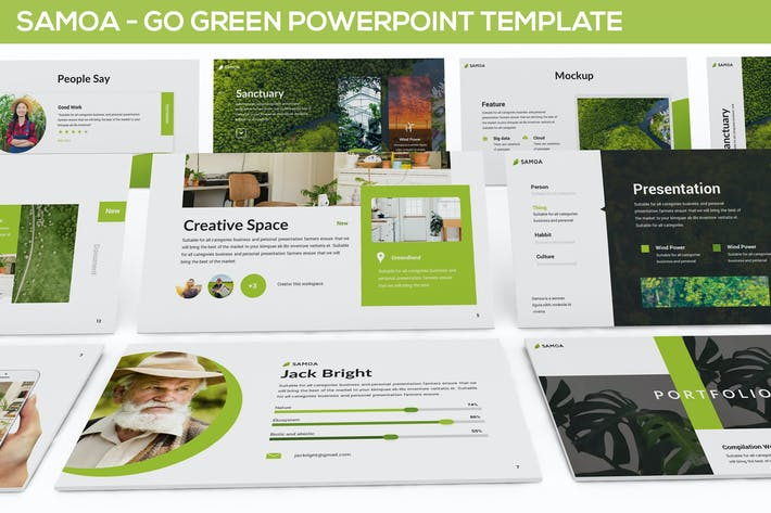 Thumbnail for Samoa - Green Campaign Powerpoint Template