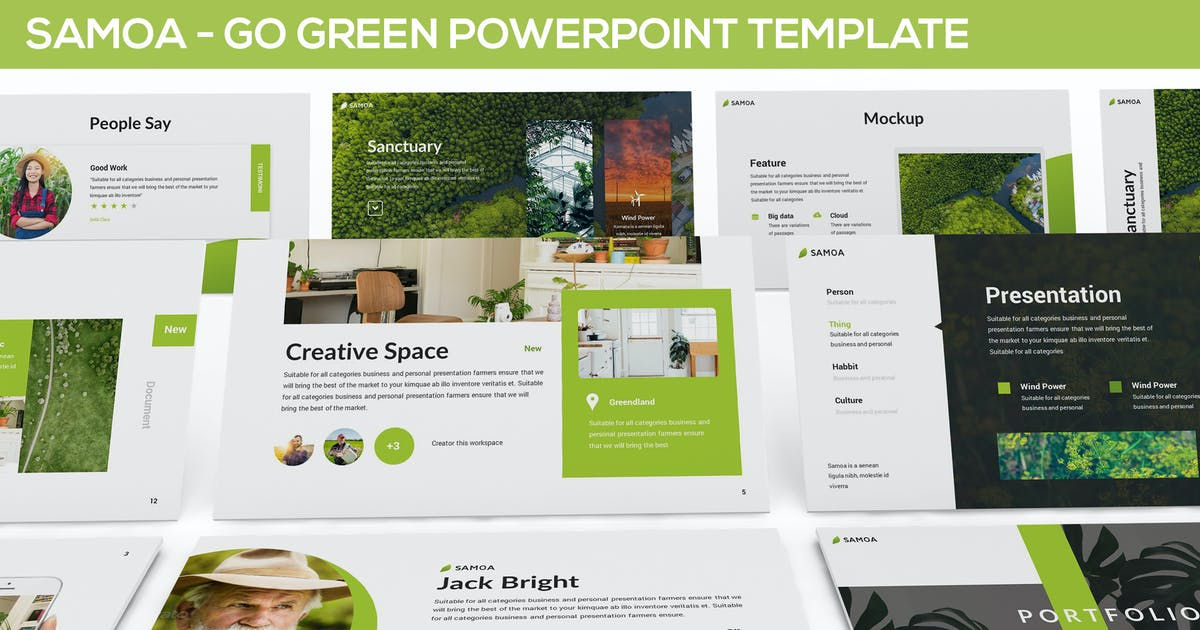 Download Samoa - Green Campaign Powerpoint Template by Unknow