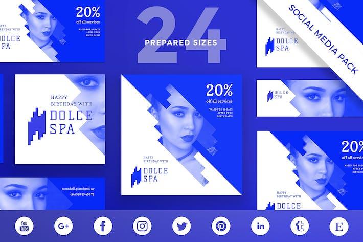Thumbnail for Spa Salon Social Media Pack Template