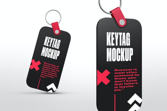 Thumbnail for Rectangle Key Tag Mockups