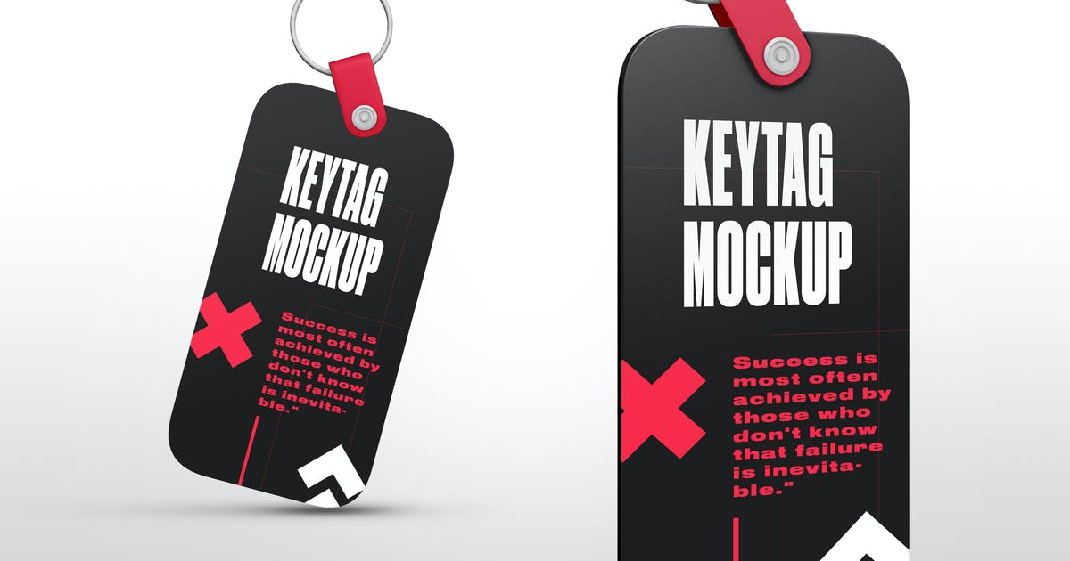 Download Rectangle Key Tag Mockups by Stockware