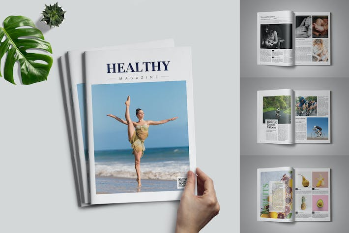 Thumbnail for Healthy Magazin-Vorlage