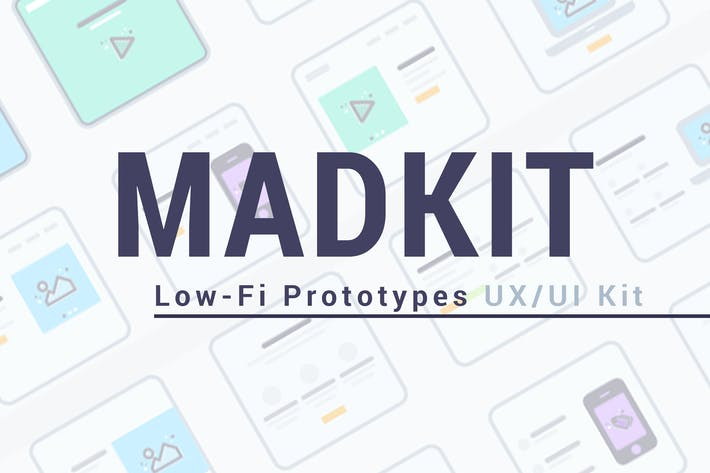 Thumbnail for MadKit | Low-fi Prototypes UX/UI Kit