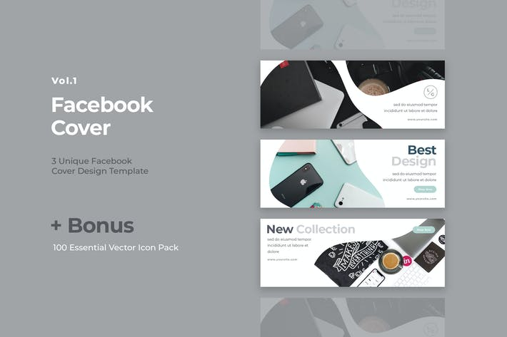 Thumbnail for Facebook Cover Vol.1