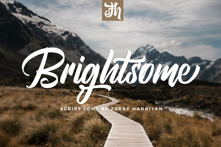 Thumbnail for Brightsome - Script Font