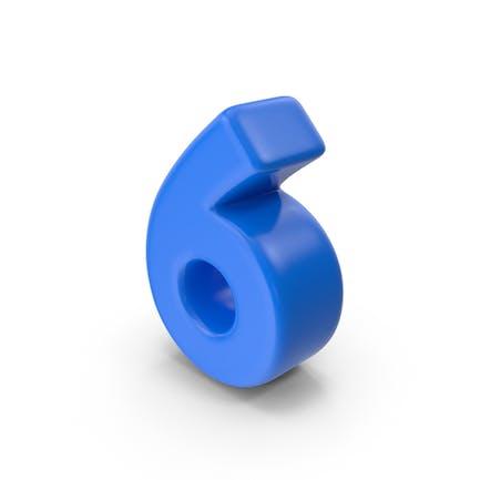 Azul Número 6