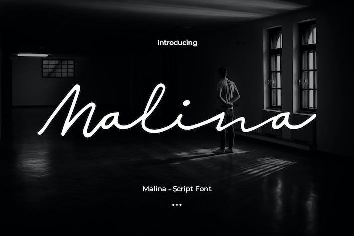 Thumbnail for Malina - Script Font