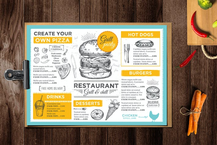 Burger Menu Template By BarcelonaDesignShop On Envato Elements - Delivery menu template