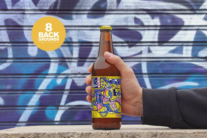 Thumbnail for 50cl Beer Bottle Mockup