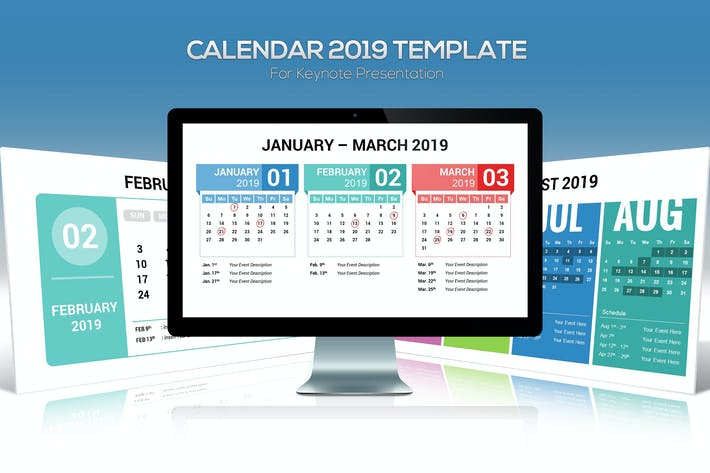Thumbnail for 2019 Calendar Keynote Template