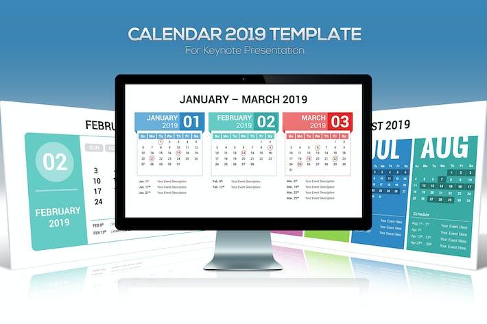 Thumbnail for Шаблон Keynote календаря 2019