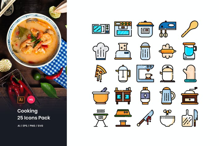 Thumbnail for Cooking Icons Pack