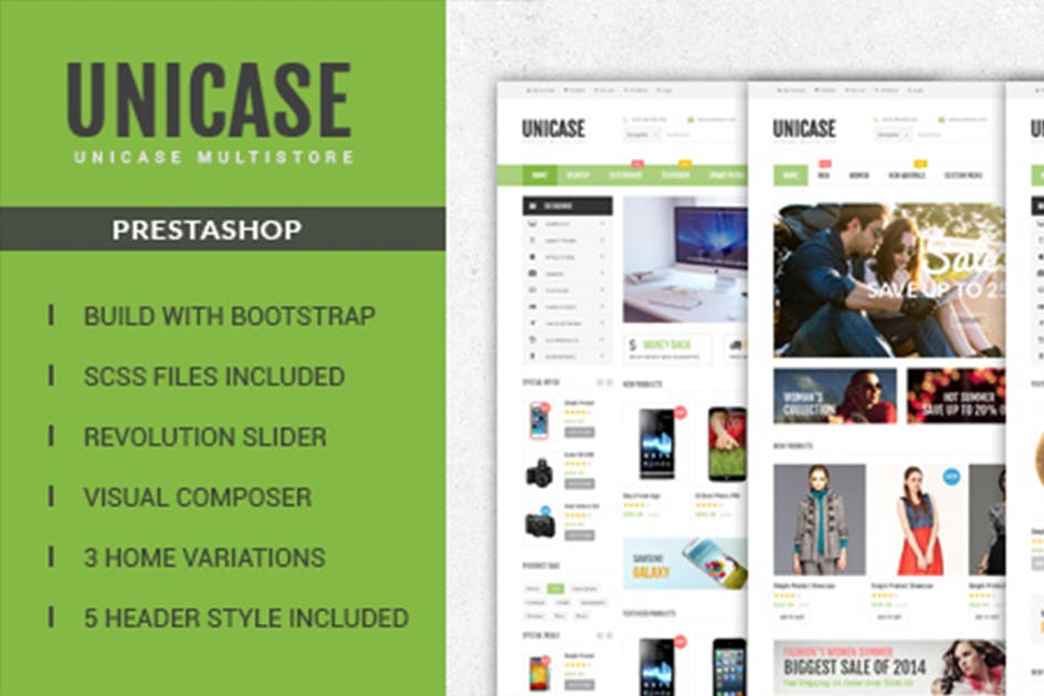 Download Unicase Responsive Prestashop Theme by labertheme